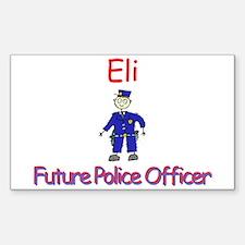 Eli - Future Police Rectangle Decal