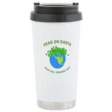 Peas on Earth Travel Mug