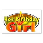Birthday Girl Rectangle Sticker