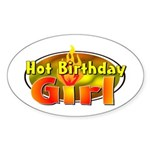 Birthday Girl Oval Sticker