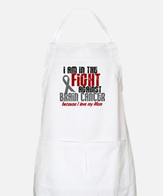 In The Fight MOM Brain Cancer BBQ Apron
