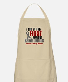 In The Fight MOMMY Brain Cancer BBQ Apron