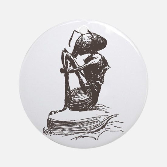 Contemplating Ant Ornament (Round)