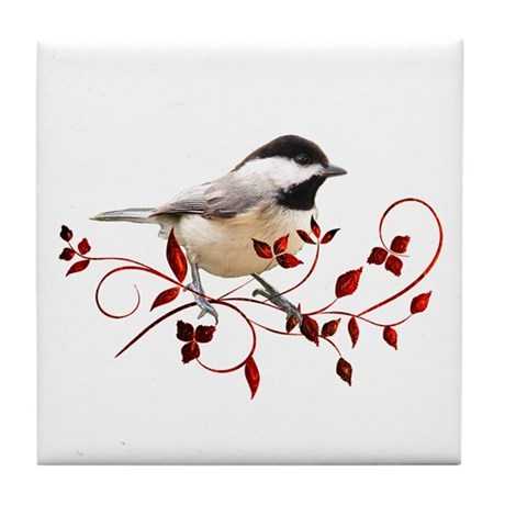 Chickadee Tile Coaster