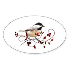 Chickadee Oval Decal