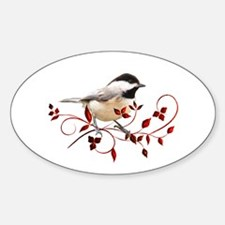 Chickadee Oval Sticker (10 pk)