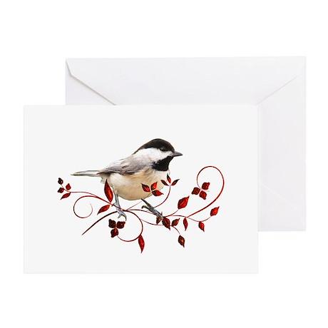 Chickadee Greeting Cards Cafepress