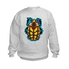 Blue Glow Beetle Sweatshirt