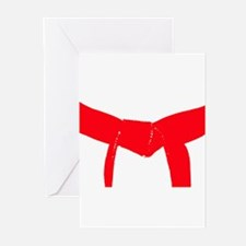 Martial Arts Red Belt Greeting Cards (Pk of 10)