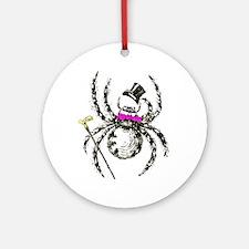 Tophat Spider Ornament (Round)