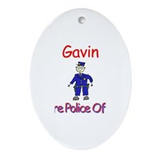 Gavin - Future Police Oval Ornament