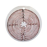 Labyrinth Round Ornaments
