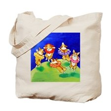 Corgi Frolic Whimsical Tote Bag