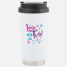 Love 2 Twirl Stainless Steel Travel Mug