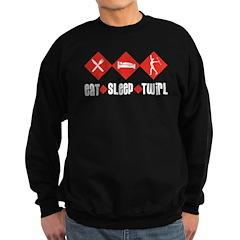 Eat Sleep Twirl (Red) Sweatshirt