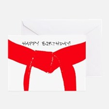 Martial Arts Red Belt Birthday Cards 10PK
