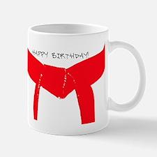 Red Belt Happy Birthday Mug