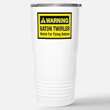 WARNING Baton Twirler Stainless Steel Travel Mug