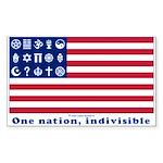URA Flag #1 Sticker