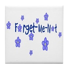 Forget-Me-Not Tile Coaster