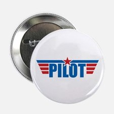 """Pilot Aviation Wings 2.25"""" Button (10 pack)"""