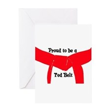 Proud to be a Red Belt Greeting Card