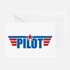 Pilot Aviation Wings Greeting Card
