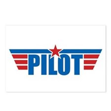 Pilot Aviation Wings Postcards (Package of 8)