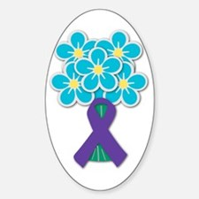 Forget Me Not Oval Decal