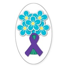 Forget Me Not Oval Stickers