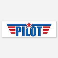Pilot Aviation Wings Bumper Bumper Sticker