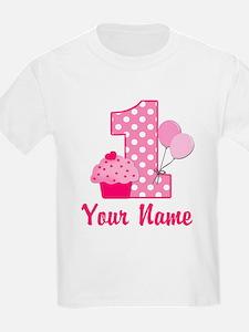 1st Birthday Pink Cupcake T-Shirt