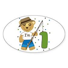I'm 1 Fishing Buddy Oval Decal