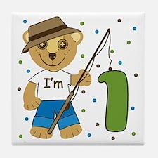 I'm 1 Fishing Buddy Tile Coaster
