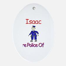 Isaac - Future Police Oval Ornament