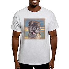 """Cairn Terrier """"Skye"""" Ash Grey T-Shirt"""