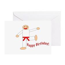Martial Arts Red Belt Birthday Card