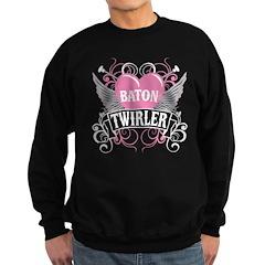 Baton Twirler Heart & Wings Sweatshirt (dark)