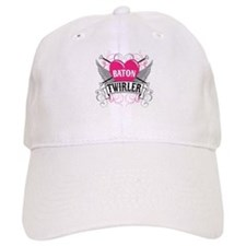 Baton Twirler Heart & Wings Baseball Cap