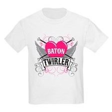 Baton Twirler Heart & Wings T-Shirt