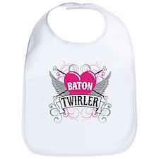 Baton Twirler Heart & Wings Bib