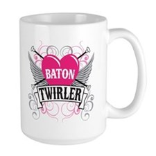 Baton Twirler Heart & Wings Mug