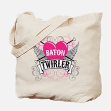 Baton Twirler Heart & Wings Tote Bag