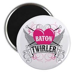 Baton Twirler Heart & Wings 2.25
