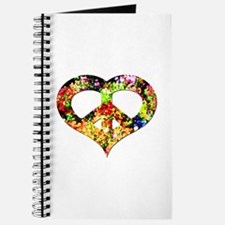 Flower Peace Heart Journal