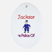 Jackson - Future Police Oval Ornament