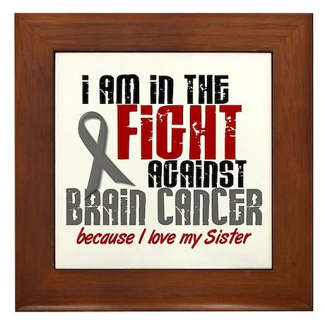 In The Fight SISTER Brain Cancer Framed Tile