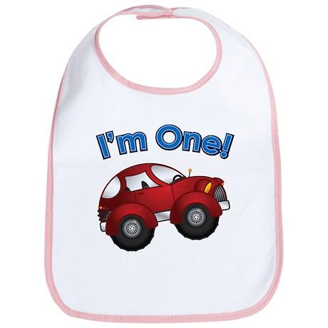 I'm One Red Car Bib