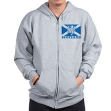 Flag of Scotland with Lion Zip Hoodie