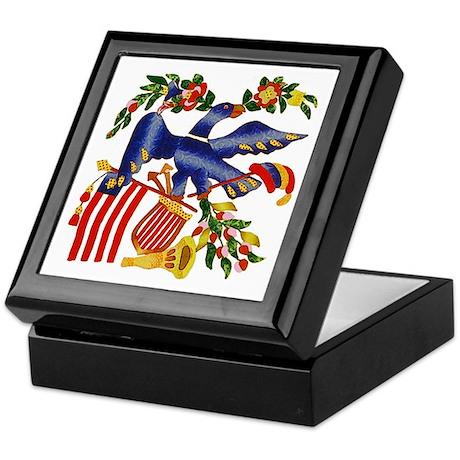 Eagle with Flag and Cornucopia Keepsake Box